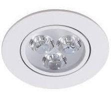 Spot LED Embutir Redondo 3w 6000k Bivolt Branco Frio  - OUTLED ILUMINAÇÃO