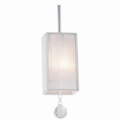 Pendente 10cm Lampada E27 SILK HU2187W Tecido Seda Branco  - OUTLED ILUMINAÇÃO