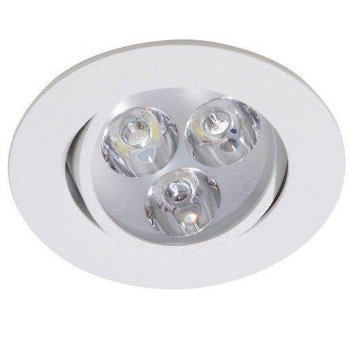 Spot 3w 3000k LED Embutir Redondo Branco Quente Bivolt  - OUTLED ILUMINAÇÃO