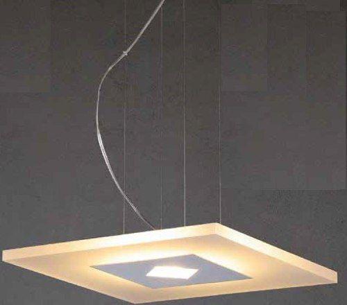Lustre 18w 3000k LED Pendente em Aluminio Acrilico ZU008S Bivolt  - OUTLED ILUMINAÇÃO