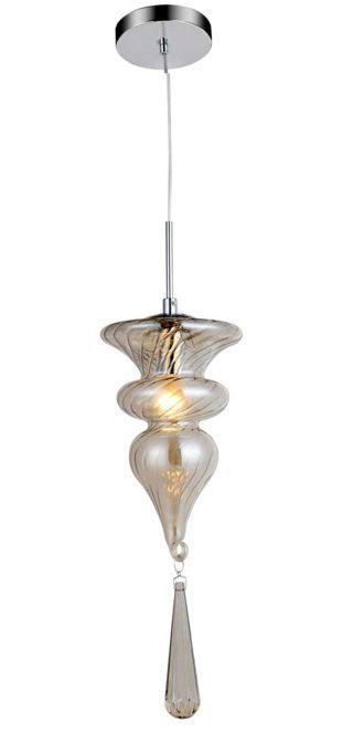 Pendente 15cm Lampada E14 Organika KB002A Cromado Champagne
