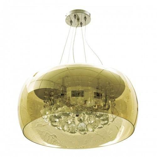 Lustre 50cm 6 Lampada G9 Pendente Plafon HU6550PC Ambar  - OUTLED ILUMINAÇÃO