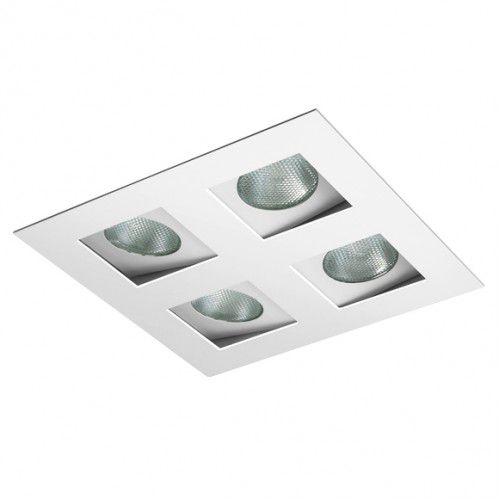 Luminaria PAR20 Embutir p/ 4 Lampadas BL1223/4 Branco Fosco  - OUTLED ILUMINAÇÃO