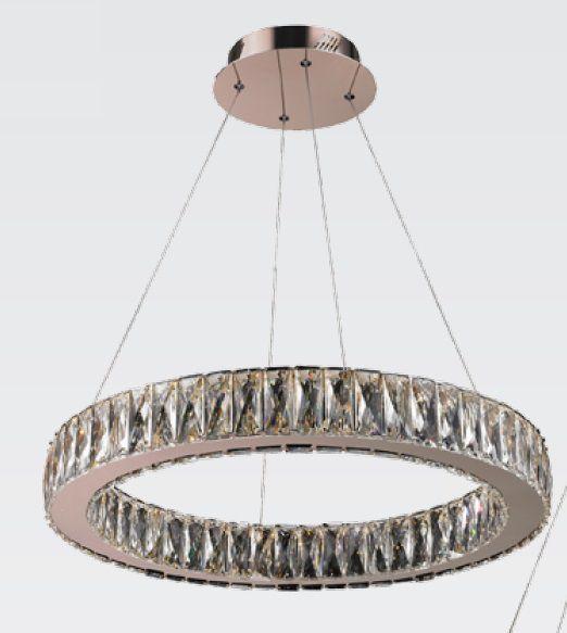 Lustre LED 32w 3000k AURA Pendente WE002B Cobre  - OUTLED ILUMINAÇÃO