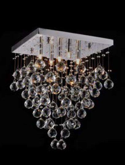 Plafon 35cm 5 Lampada G9 Spring Cromado SS005 CR/TR  - OUTLED ILUMINAÇÃO