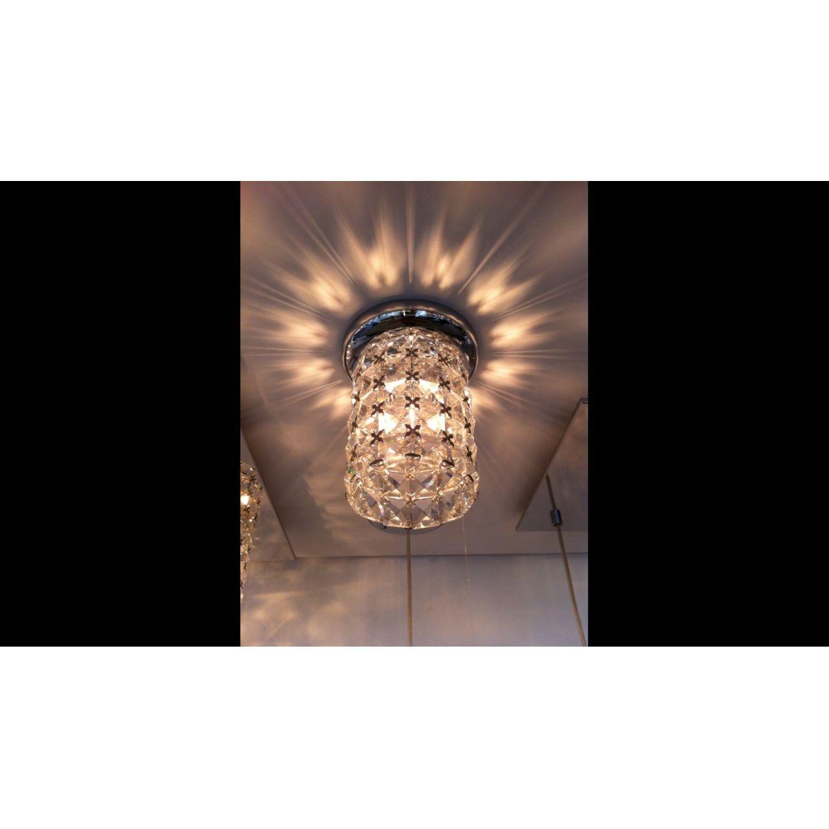 Lustre Lampada G9 Plafon Sonata HO2661C Cromado  - OUTLED ILUMINAÇÃO