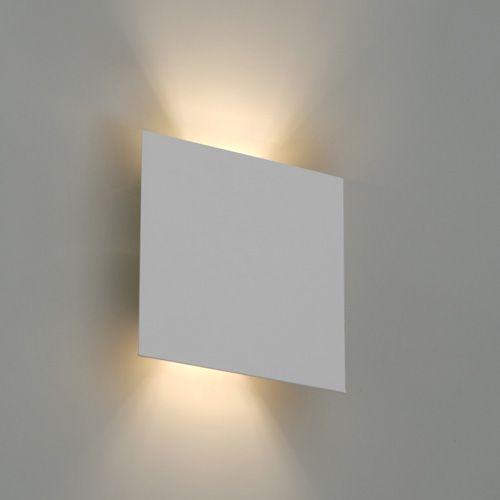 Arandela Parede Quadrada Facho Duplo Bella Luce BL8055 Branco  - OUTLED ILUMINAÇÃO