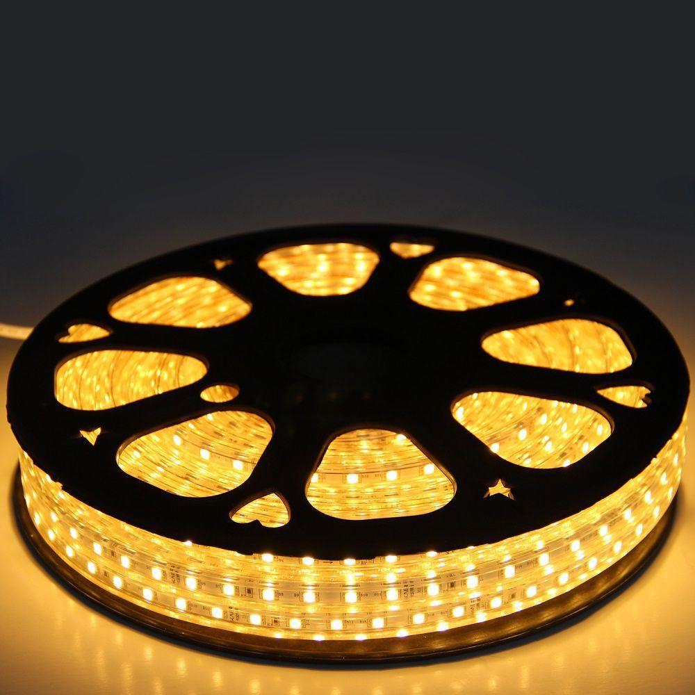 FITA LED 220v 3000k Branco Quente 4,8W/M 3528 IP67 120W LP053 Kit 25 Metro  - OUTLED ILUMINAÇÃO