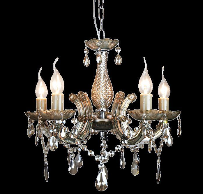 Lustre 5 Lampada E14 Pendente Duchessa KH1065C Âmbar  - OUTLED ILUMINAÇÃO