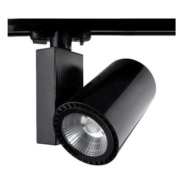 Spot Preto para Trilho 20W LED Branco Quente 3000K Initial  - OUTLED ILUMINAÇÃO
