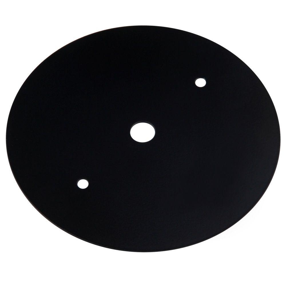 Tampa 11cm Cega Espelho Redondo para Trilho Eletrificado DL028P Preto  - OUTLED ILUMINAÇÃO
