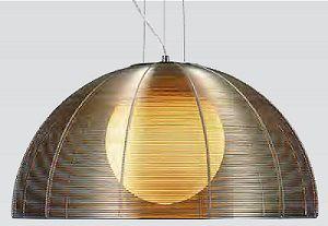 Pendente 50cm Lampada E27 Wire Aço Alumínio e Vidro GA006C Cromado Café  - OUTLED ILUMINAÇÃO