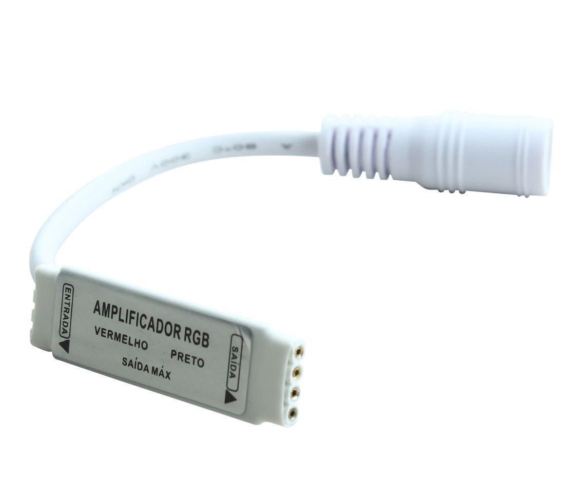 AMPLIFICADOR DE SINAL PARA FITA LED RGB AC31125  - OUTLED ILUMINAÇÃO