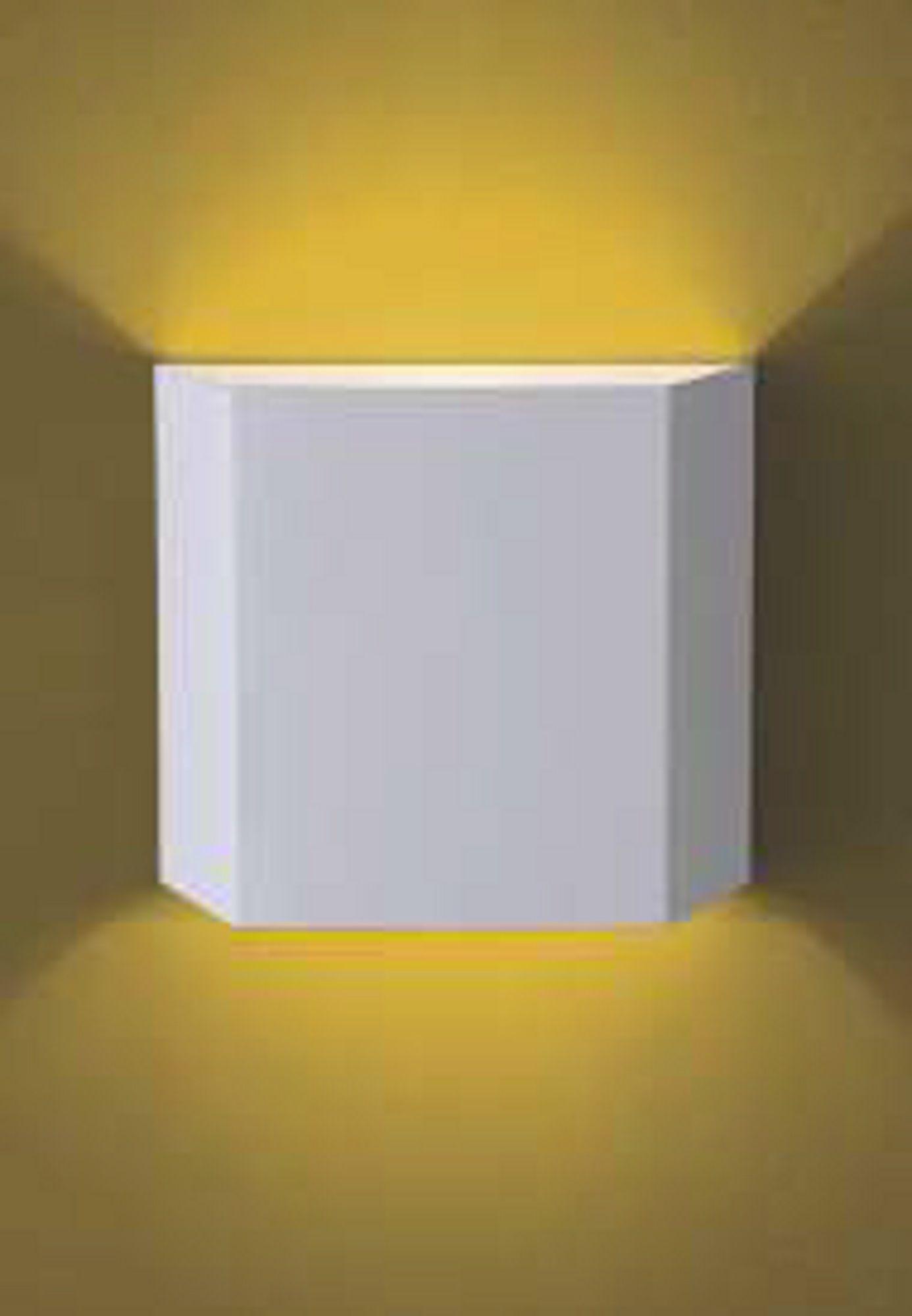 Arandela em Alumínio Trapezio Branca 1xG9 Flash 910 Ideal  - OUTLED ILUMINAÇÃO