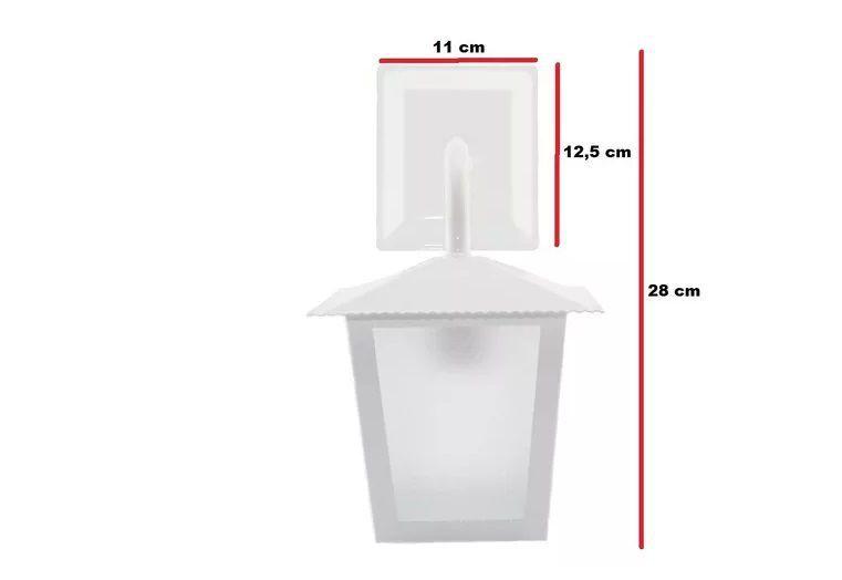 Arandela Ideal Aço Quadrado de Parede L2B Cor Branca