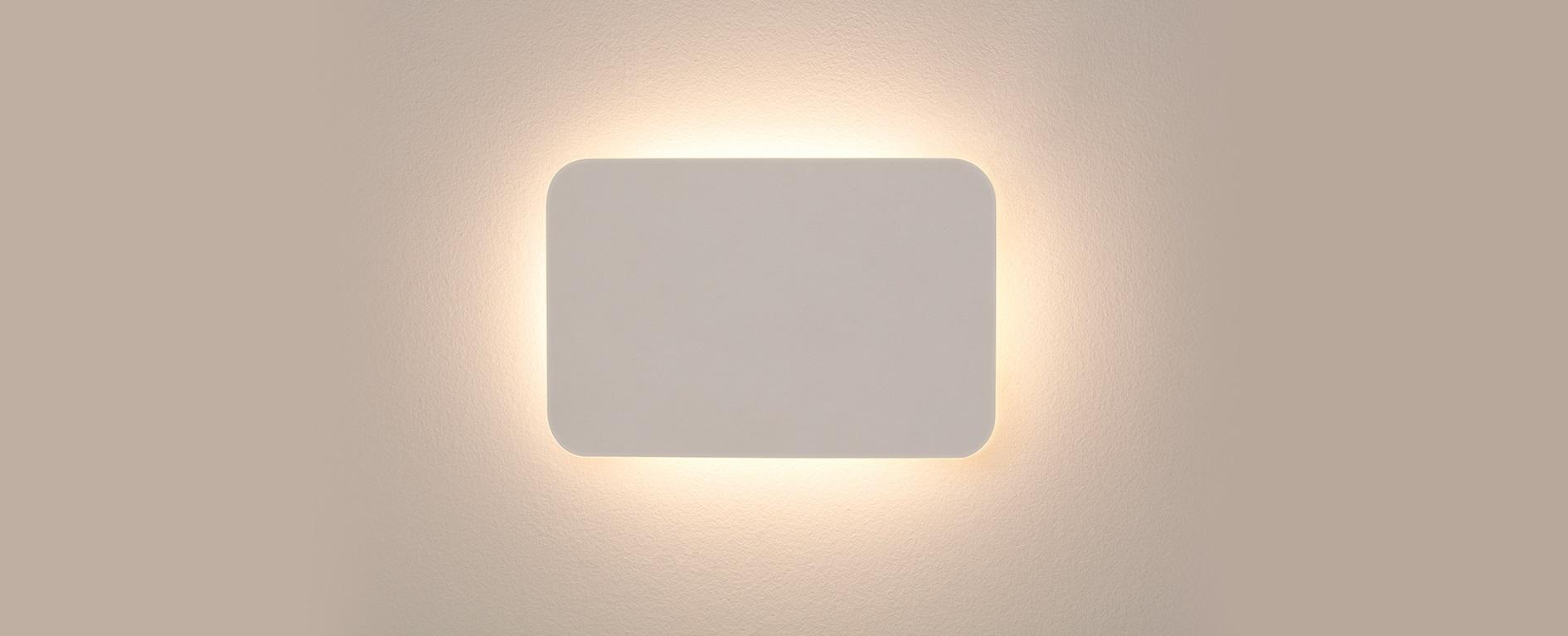 ARANDELA PLANE LED RETANGULAR BRANCA 14W 3000K SD2325