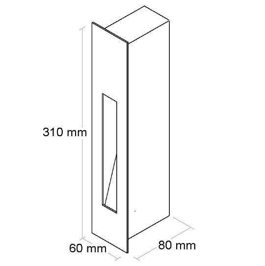 Balizador G9 Embutir Parede BL6008PP Branco Fosco Bella Luce