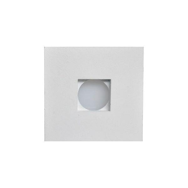 Balizador Parede Embutir LED 1w 3000k 55Lm Branco Fosco Biv LED402  - OUTLED ILUMINAÇÃO