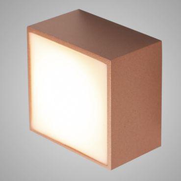 Balizador Quadrado Sobrepor 6w LED 3000k Branco Quente 400Lm 127v Cobre Case 903/301