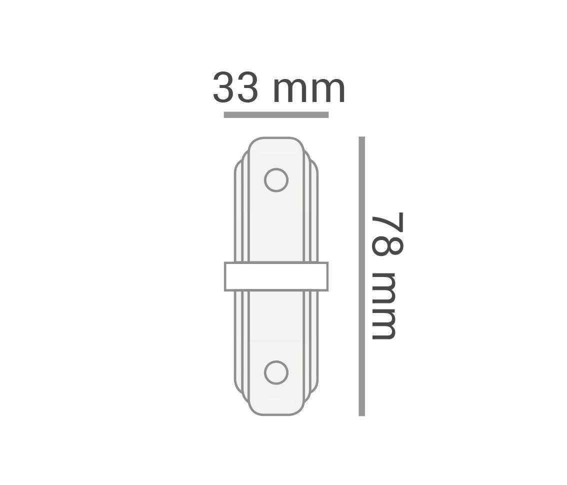 Conector I Para Emenda De Trilho Eletrificado Branco Ac 35406