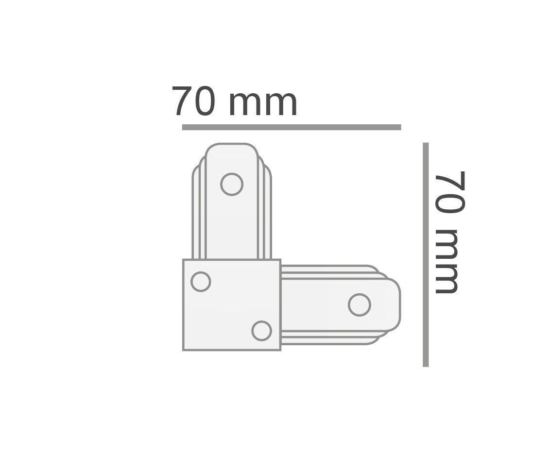 Conector L Para Emenda De Trilho Eletrificado Branco Ac 35420  - OUTLED ILUMINAÇÃO