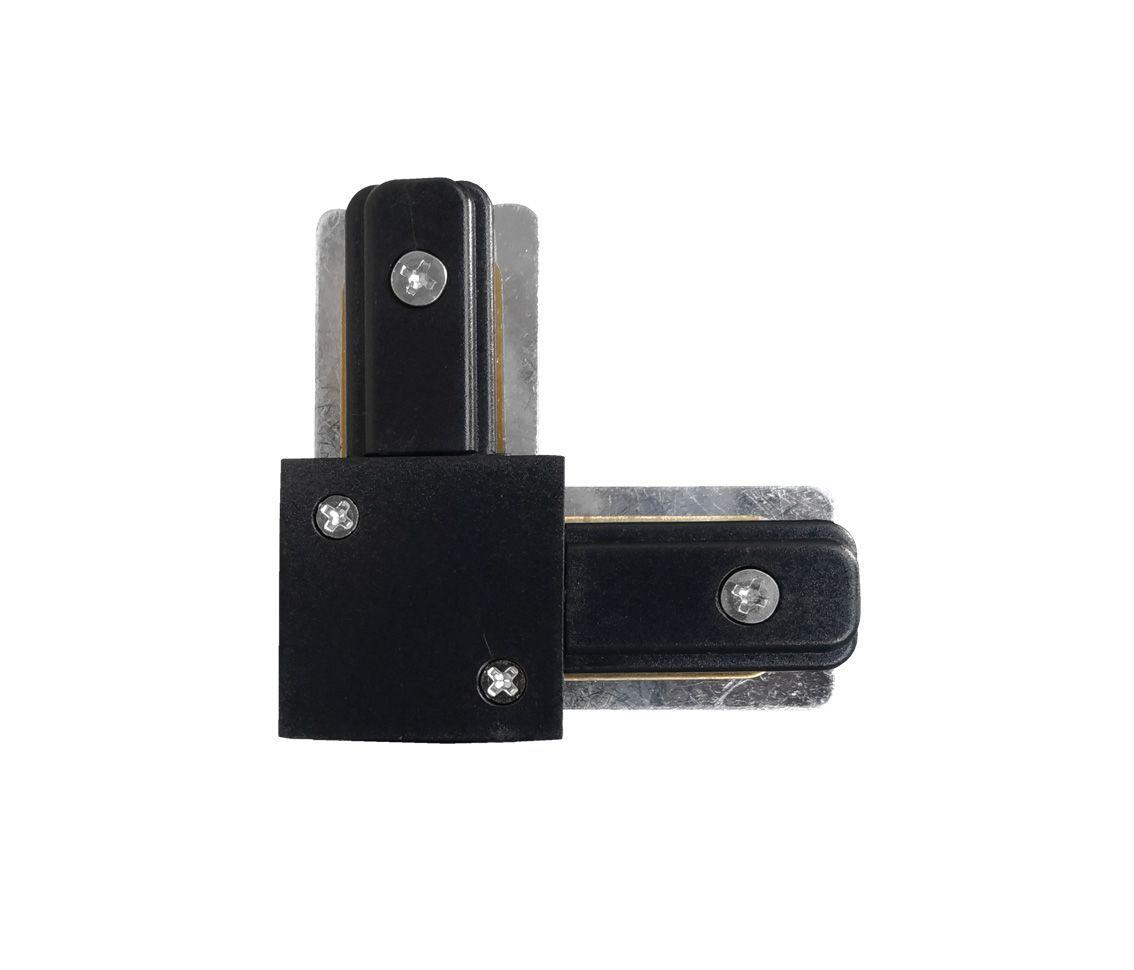 Conector L Para Emenda De Trilho Eletrificado Preto Ac 35437
