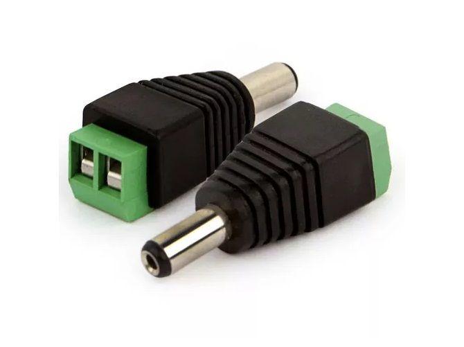 Conector Plug P4 Macho CFTV Adaptador Alimentacao Borne