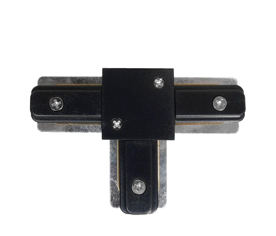 Conector T Para Emenda De Trilho Eletrificado Preto Ac 35451  - OUTLED ILUMINAÇÃO