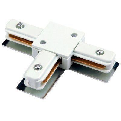 Conector T Junção Emenda para Trilho Eletrificado DL025B Branco  - OUTLED ILUMINAÇÃO