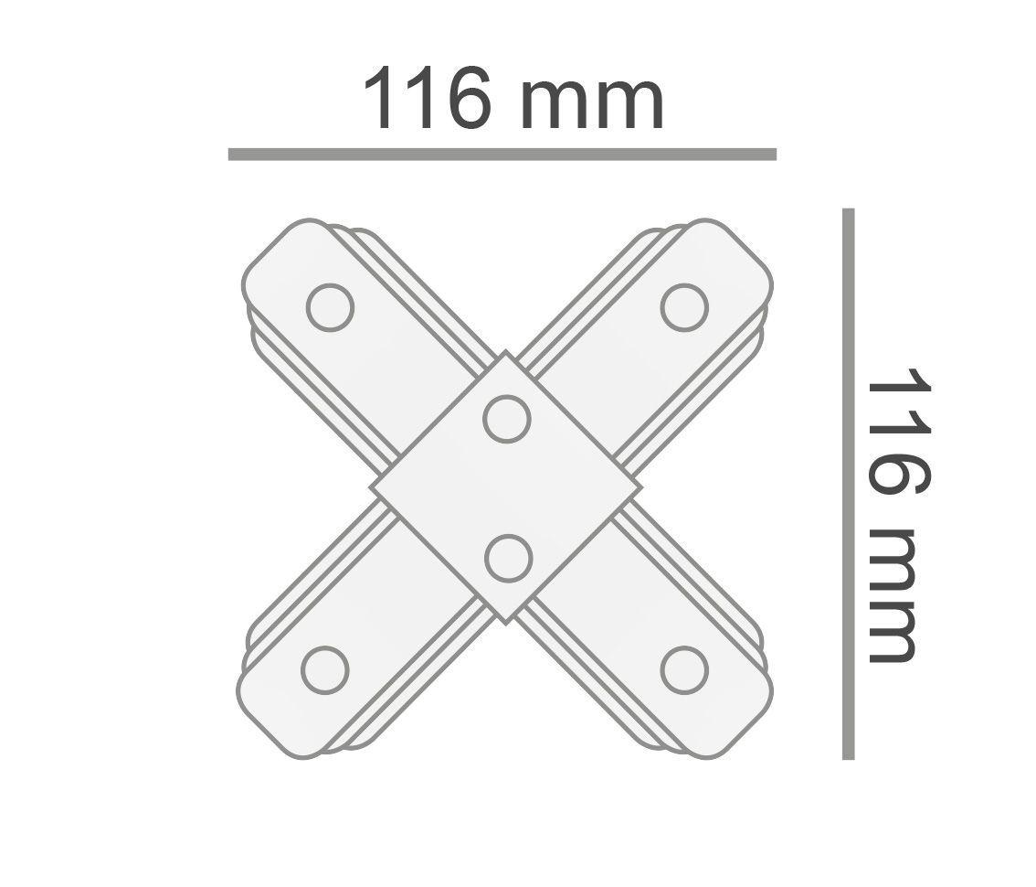 Conector X Para Emenda De Trilho Eletrificado Preto AC35475