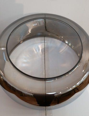 Cupula 40cm Vidro Bella Cromado Modelo VDPD002CR