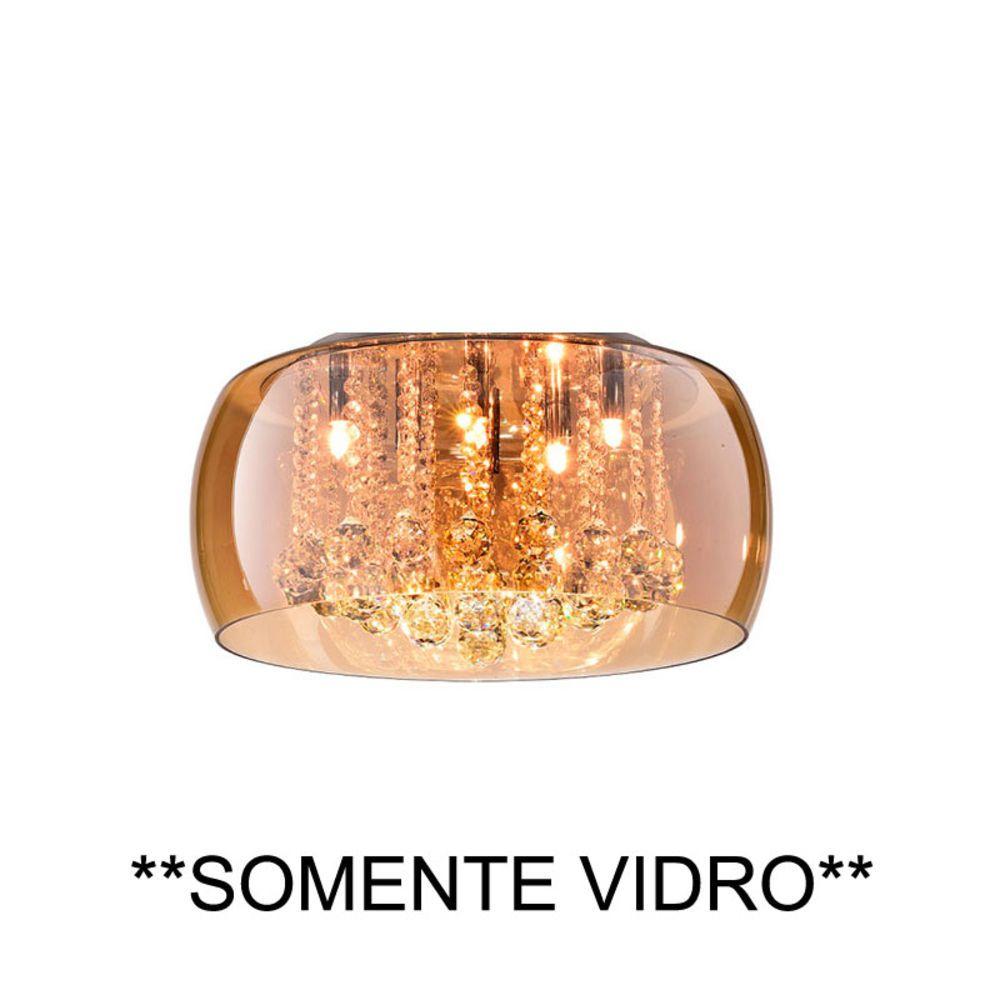Cupula Vidro 40cm Ambar Modelo PD002AM Bella Iluminação  - OUTLED ILUMINAÇÃO