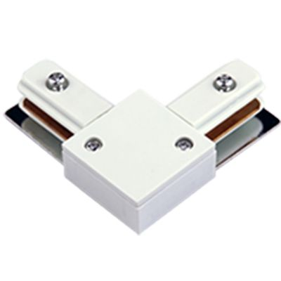 Emenda L Conexao Conector Juncao Trilho Eletrificado Branco DL024B  - OUTLED ILUMINAÇÃO