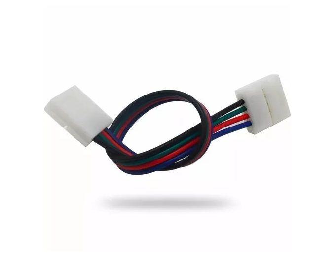 Emenda RGB Plug Conector Fio Fita Led 10mm 4 Vias 5050 3528  - OUTLED ILUMINAÇÃO