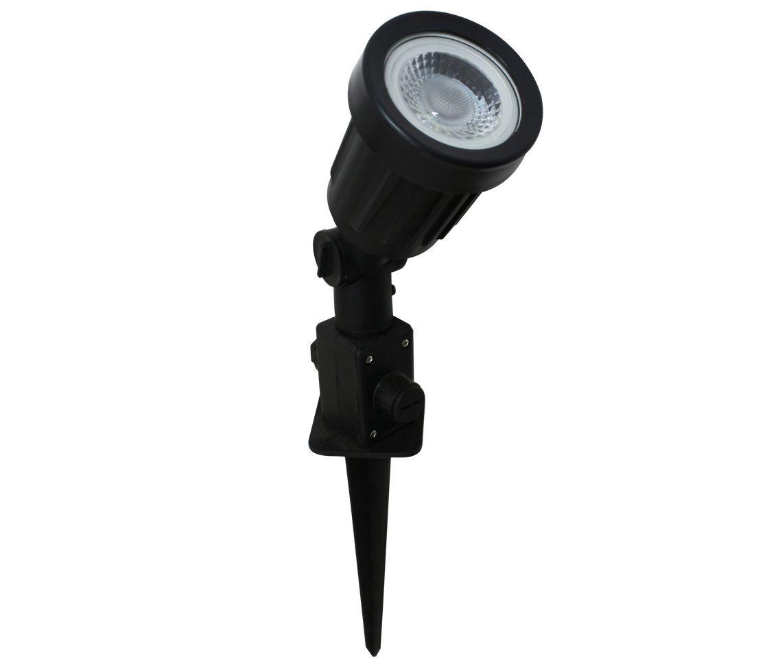 Espeto LED 5w 3000k Branco Quente 38° Preto Eco 33099