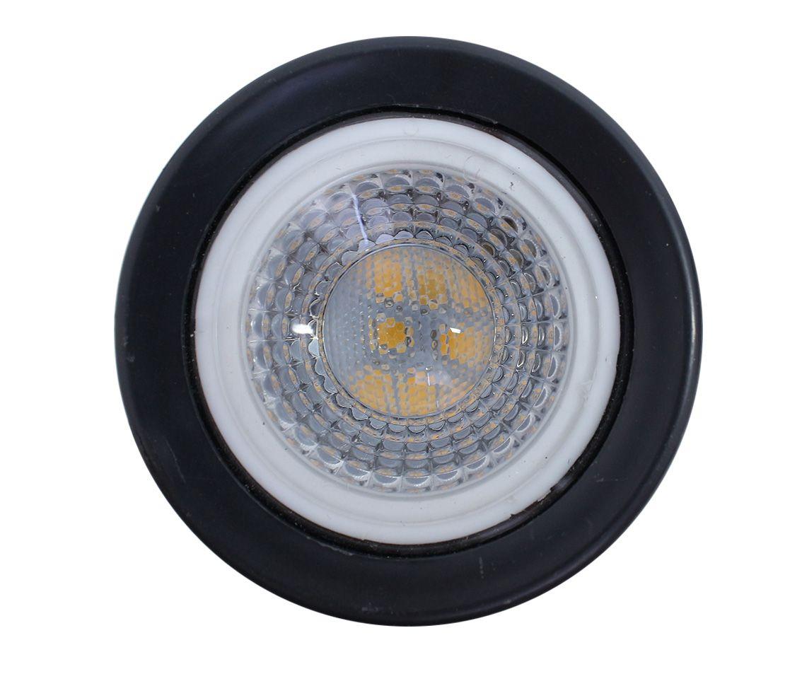 Espeto LED 5w Âmbar 38° Preto Eco 32634