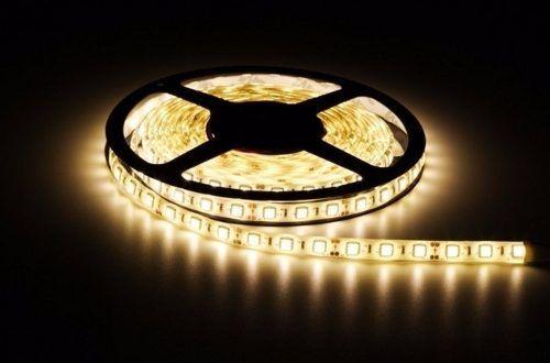 Fita LED 12v 3000k 14.4W 5050 72w Branco Quente IP65 Silicone  - OUTLED ILUMINAÇÃO