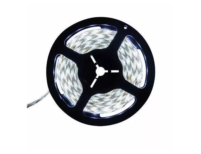 Fita LED 12v 6000k 3528 Branco Frio 24w 300 Leds IP65 5 Metros  - OUTLED ILUMINAÇÃO