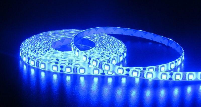 Fita LED 12v AZUL 3528 24w 300 Leds Ip65 5 Metros  - OUTLED ILUMINAÇÃO