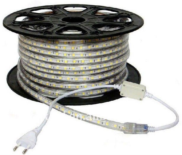 Fita LED 4.8w/M 127v 3000k Branco Quente SMD3528 120w IP65 50 Metros FT31606  - OUTLED ILUMINAÇÃO