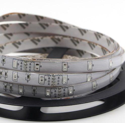 Fita LED RGB 3528 12v 300 Leds Ip65 Colorida 5 Metros Controle RGB  - OUTLED ILUMINAÇÃO