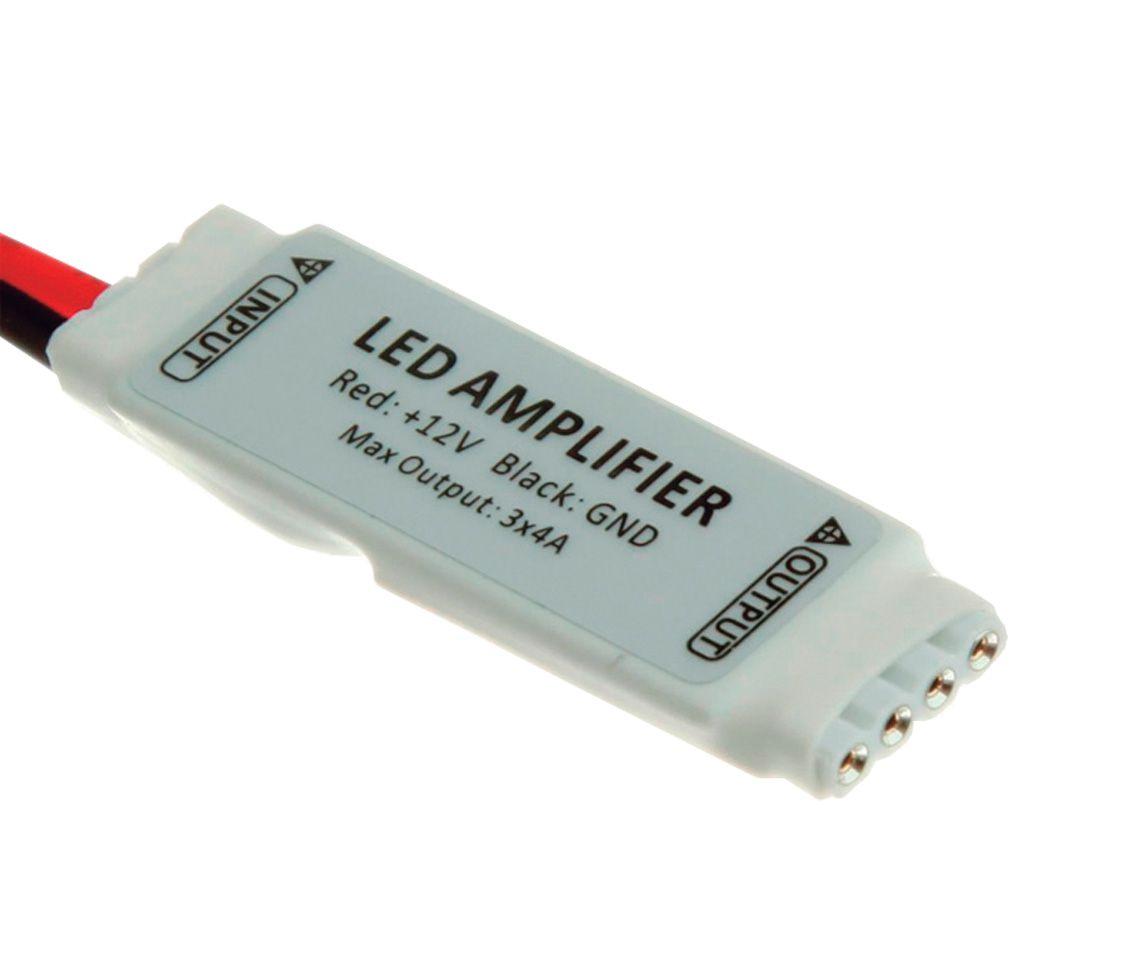 Kit 7 AMPLIFICADOR DE SINAL PARA FITA LED RGB AC31125  - OUTLED ILUMINAÇÃO