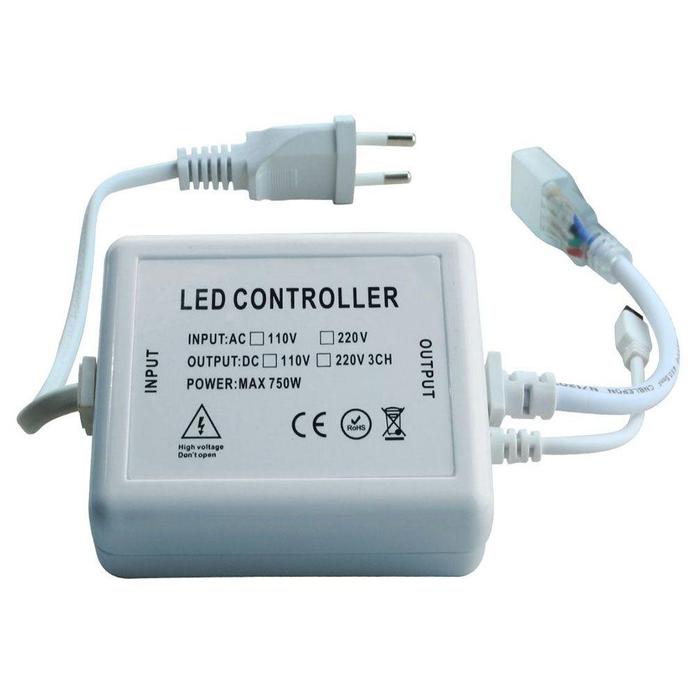 KIT CONECTOR DE FITA LED 5050 127V AC32009  - OUTLED ILUMINAÇÃO
