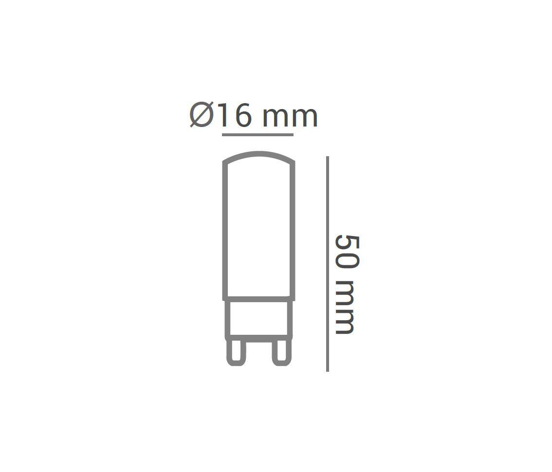 Lampada 3w 3000k 127v LED G9 Bipino Halopin Branco Quente Encapsulada