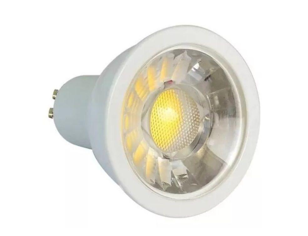 Lampada 4w 3000k LED COB Dicroica GU10 Branco Quente  - OUTLED ILUMINAÇÃO