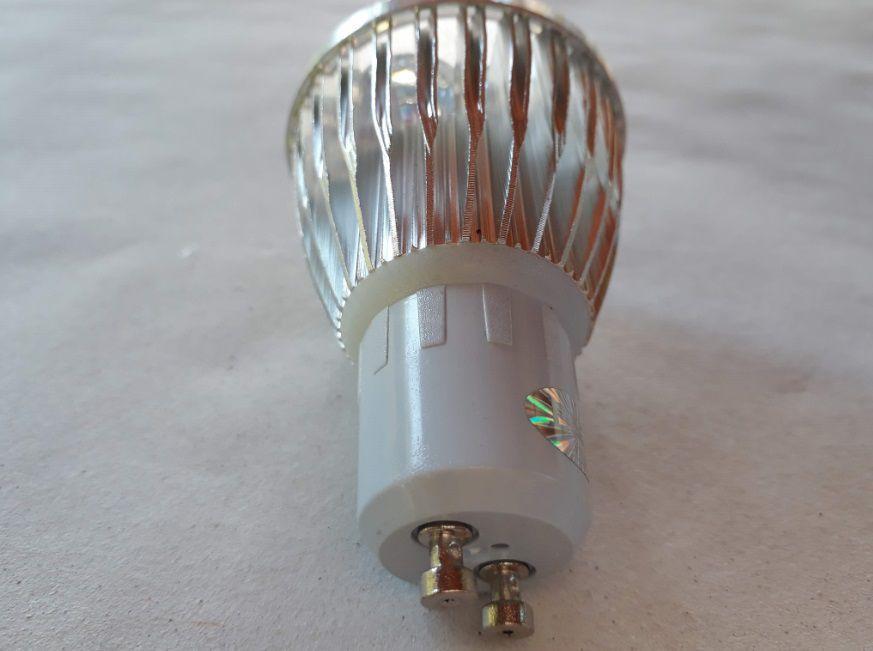 Lampada 5w 3000k LED Dicroica MR16 GU10 Bivolt Branco Quente  - OUTLED ILUMINAÇÃO