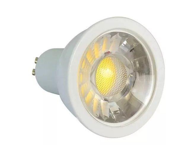 Lampada 5w 6000k LED COB Dicroica GU10 MR16 Bivolt Branco Frio  - OUTLED ILUMINAÇÃO