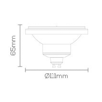 LAMPADA LED AR111 GU10 12W BIV 2700K 720Lm LE-3217  - OUTLED ILUMINAÇÃO