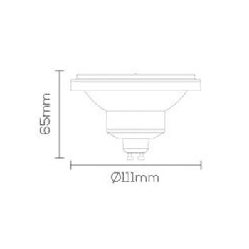 LAMPADA LED AR111 DIMERIZÁVEL GU10 12W 2700K 24° Dimerizável Bivolt LE-3218  - OUTLED ILUMINAÇÃO