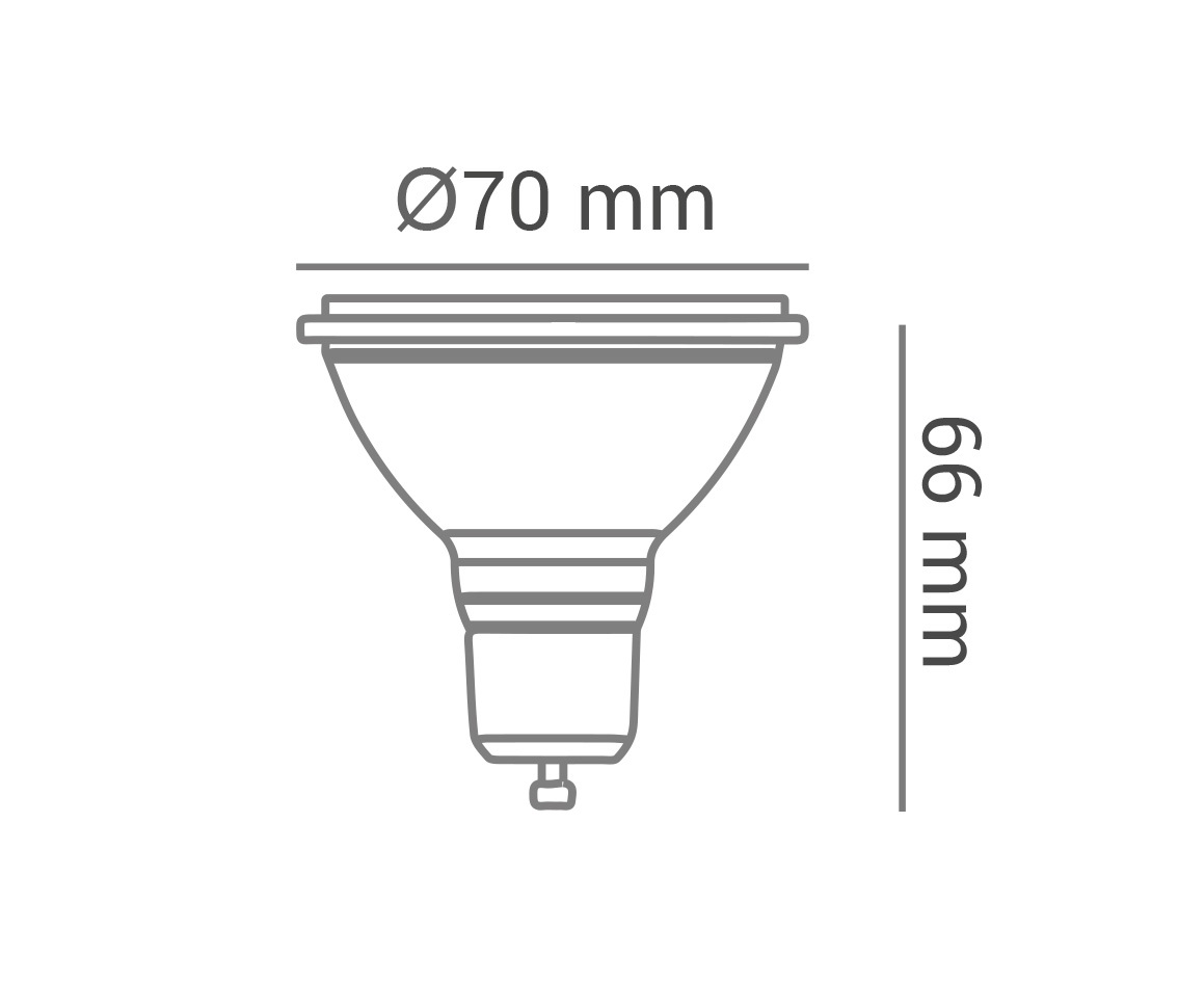Lampada AR70 4.8w LED 2700k Branco Quente Dimerizável 12° Gu10 Bivolt Lp 37356